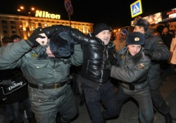 wrongful arrest On Triumphal Square