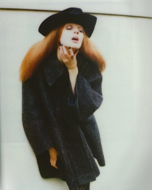 "highlikefashion:  ""Olga""; Olga Sherer photographed by Wendy Bevan for 10"