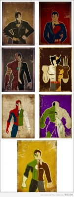 Alter-ego of superheroes