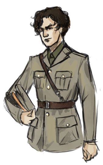 shhhsekkrit:  … so i decided to draw WWII sherlock. I don't know why i made him an RAF officer. He'd work in intelligence or something. But the uniform is hot, okay?   Isn't it?