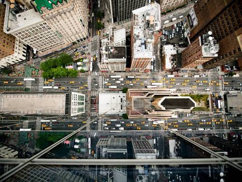 """It makes me feel incredibly small"" Aerial view of New York, by Navid Baraty.Source: National Geographic's Photo of the Day (Dec 7, 2011)"