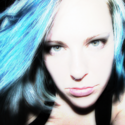 when I had blue hair…