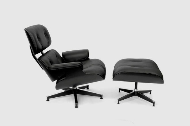 (via HUH. Magazine - Limited Edition All Black Eames Chair)