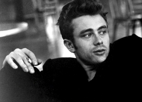 "Hedda Hopper: ""You've got a long and beautiful life ahead of you.""James Dean: ""I hope the second adjective is the more abundant.""  Hollywood, March 1955"