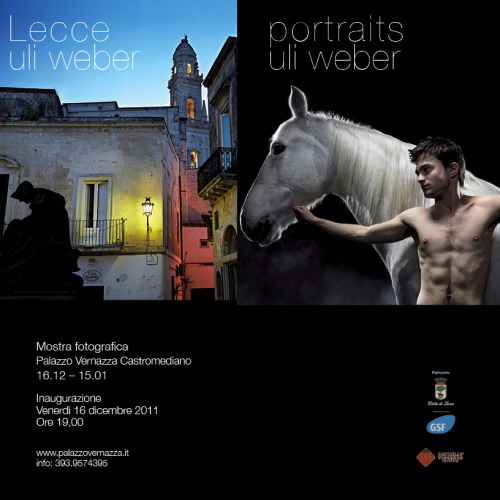 Portraits, a new show from Uli Weber, opens December 16th at the Palazzo Vernazza in Lecce, Italy with a big event on the day of. Please check it out if you are in Italy or see more of Uli's beautiful photographs here.