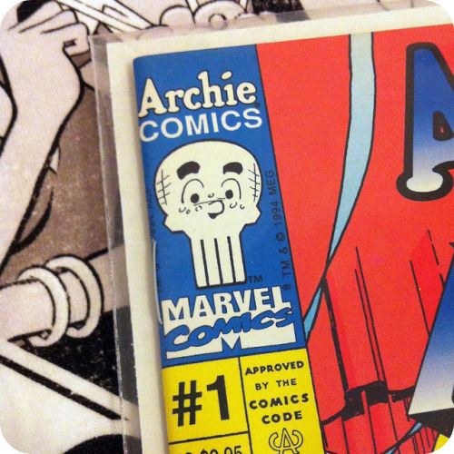 ATTN ARCHIE COMICS: I'd also really love a shirt or pin with the Archie-fied Punisher skull on it.