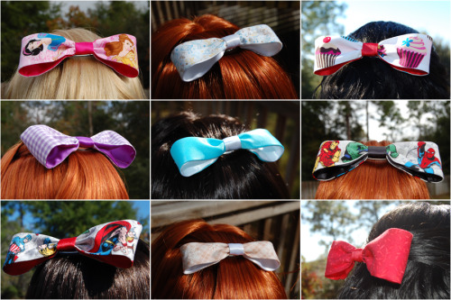 Twinklebat Boutique large and small fabric hair bows!