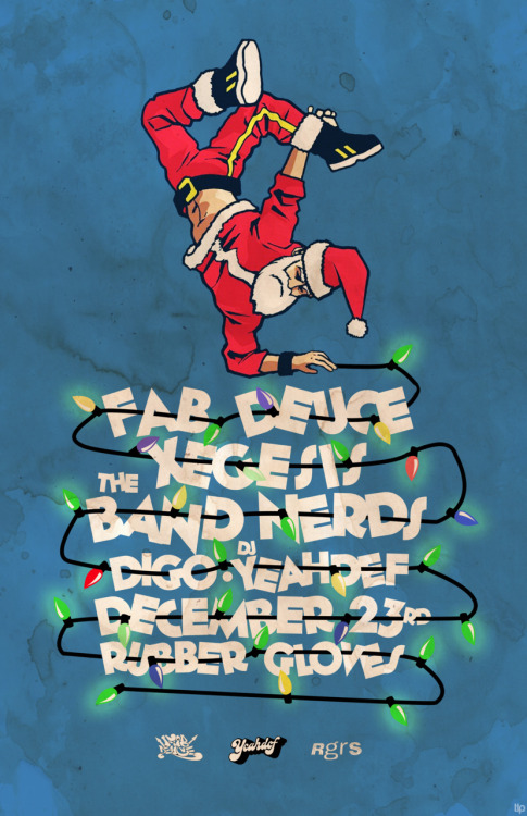 Everyone come check out the 6th Annual Fab Deuce Christmas party on December 23rd. We are trying to set the world record for most santa hats worn in a dive bar at once. Bring your drinking money and Santa hat!