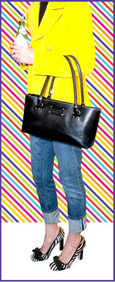 hello yellow ground a playful color with a polished handbag