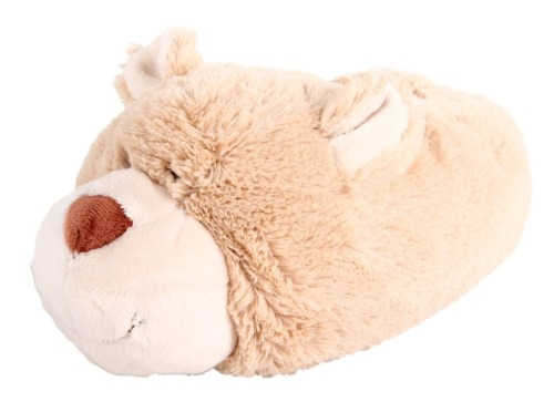 Holiday gift-idea for the animal slipper lover: Anyone who misses fuzzy animal slippers from her childhood will love these soft and fluffy adult-size ones. We're partial to the bears, but they also come in sheep, hedgehog, koala and pig versions.  Fuzzy Friends women's caramel bear slippers, $22, endless.com