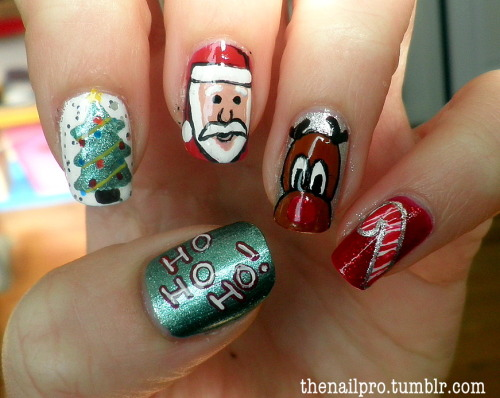 thenailpro:  CLICK HERE for picture tutorial! ho ho ho! message for colors used!