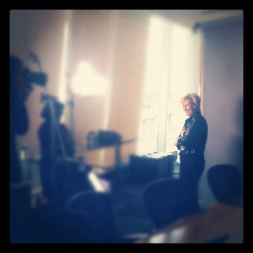 Tina Brown shoot for Arrive Magazine's upcoming feature on @WomenInWorld summit. Mag in trains March 1st! (Taken with instagram)