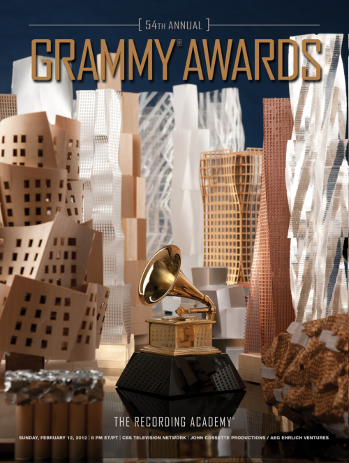 Architect Frank Gehry Creates Official Artwork for The 54th Annual GRAMMY Awards http://grm.my/vQPtYU