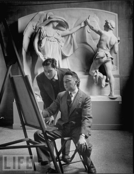 Art Students Copy Work on Display at the Met, 1939LIFE Magazine
