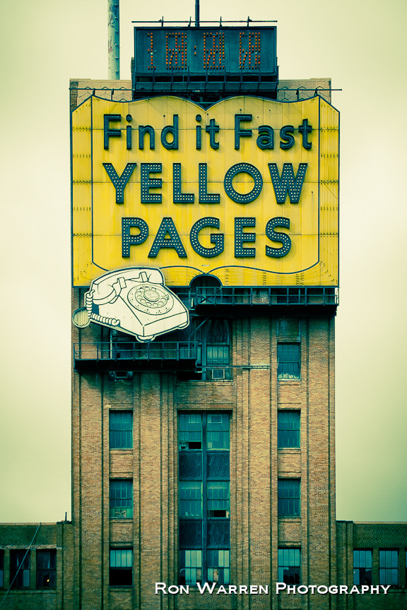 det-riot:  resurgedetroit:  The Yellow Pages sign, visible from the Lodge, is finally coming down!  This is so sad. I drove by it today and the entire left side was gone and I really don't understand why they couldn't just leave it there? It's a notable landmark, there is no point in removing it. UGH WHY  sigh