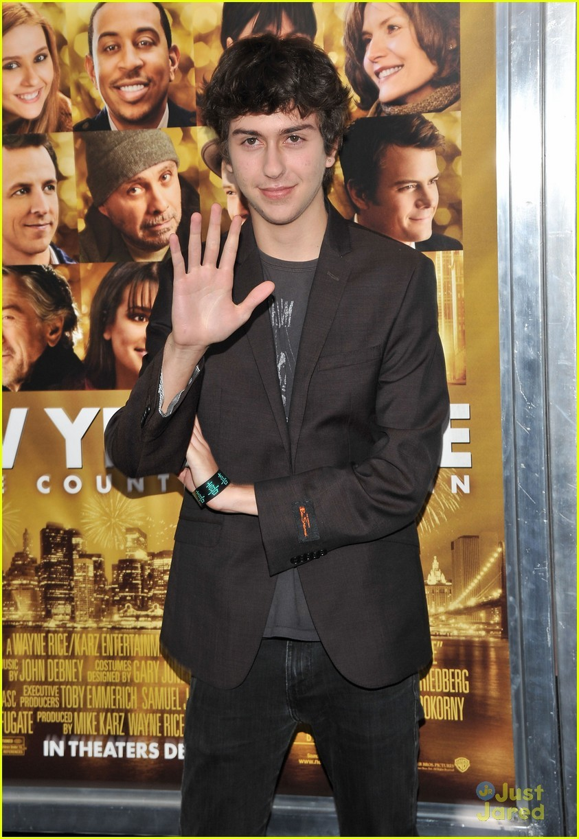 "Nat Wolff at the ""New Year's Eve"" premier in New York City!"