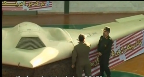 Iranian TV has shown the first video footage of an advanced US drone aircraft that Tehran says it downed near the Afghan border. Iranian officials say its forces electronically hijacked the drone and steered it to the ground.  Might be worth reading this article, detailing how Iran managed to capture this stealth drone. This event has greater implications on Iran's technological advancement. (footage)