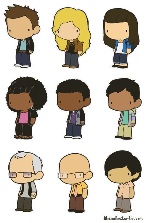 lildoodles:  Lil' Community: Six Seasons and a Movie deluxe booster pack! This pack includes Jeff Winger, Britta Perry, Annie Edison, Shirley Bennett, Troy Barnes, Abed Nadir, Pierce Hawthorne of Hawthorne Wipes, Dean Pelton and Señor Chang!  I'm about to totally get lost on this tumblr.