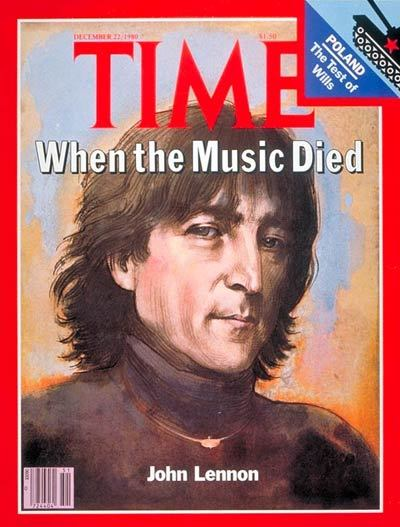 "31 years ago… ""John Lennon is shot to death at 40, and a bright dream fades. Just  a voice out of the American night. ""Mr. Lennon."" He started to turn  around. There is no knowing whether John Lennon saw, for what would have  been the second time that day, the young man in the black raincoat  stepping out of the shadows. The first shot hit him that fast, through  the chest. There were at least three others…"""