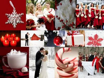 candy cane colored wedding