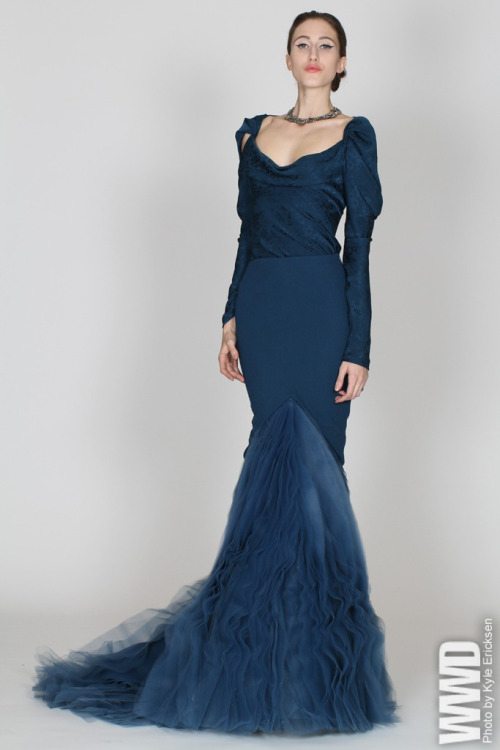 womensweardaily:  Zac Posen Pre-Fall 2012
