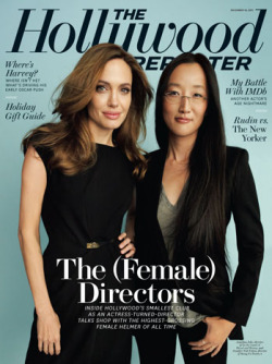 Angelina Jolie talks about her directorial debut In the Land of Blood and Honey in the lastest issue of The Hollywood Reporter. Make-up by Toni G.