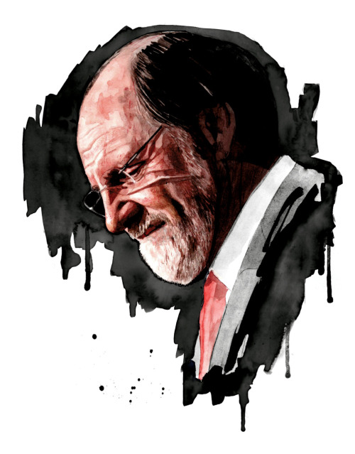 This illustration of former MF Global chief Jon Corzine runs in this week's issue. Today Corzine appeared before congress to testify on the company's missing millions. The artist of the piece: Jimmy Turrell.