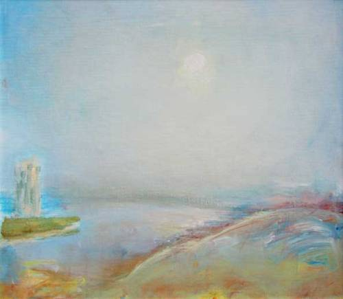 Lloyd Rees   Evening #1 1982-83    oil on board     50 x 60 cm     no. 10658