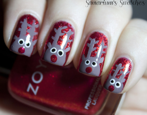 Aren't Beautylish Beauty Sarah E.'s reindeer nails just the cutest?