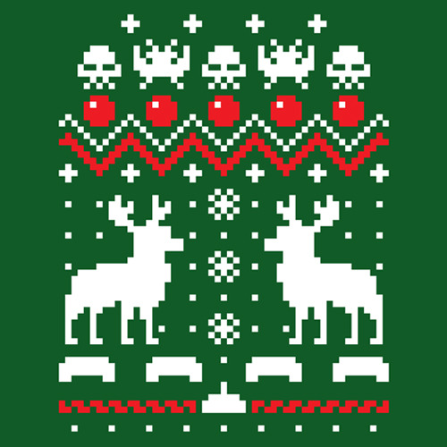 justinrampage:  Even the Space Invaders get to celebrate the Christmas holiday thanks to Tumblr artist Drew Wise. Shirts are now on sale at RedBubble! Holiday Invaders by Drew Wise (Facebook) (Twitter) Submitted by: Drew