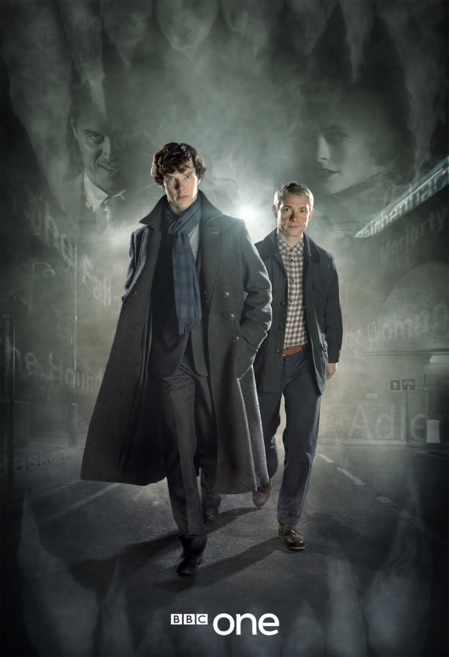 cumberbatchweb:  Higher res version of the new promo pic for Sherlock series 2.