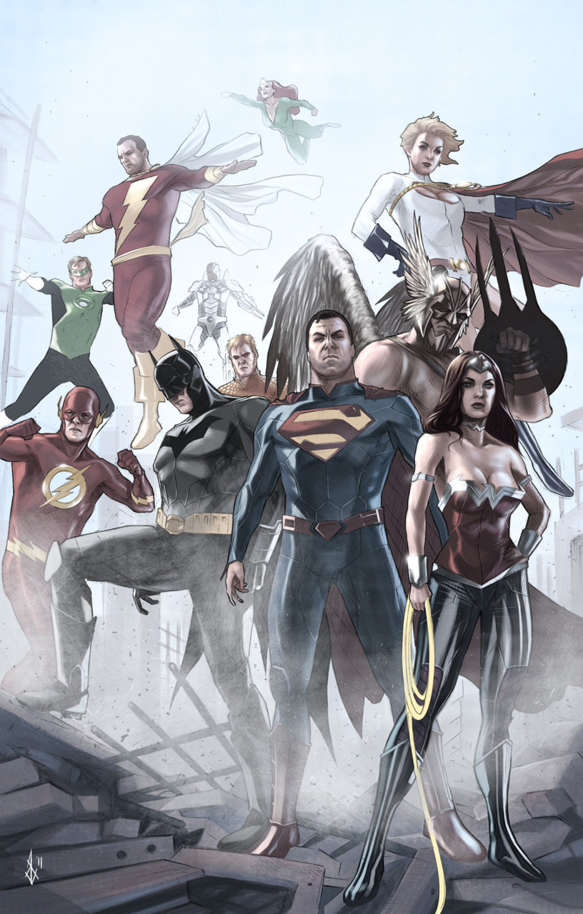 thehappysorceress:  New 52 Justice League by Bentti Bisson