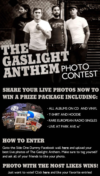 Click the photo or HERE for your chance to win The Gaslight Anthem Giveaway!