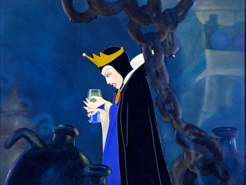 Walt Disney animation cel of Queen Grimhilde from Snow White And The Seven Dwarfs (1937)
