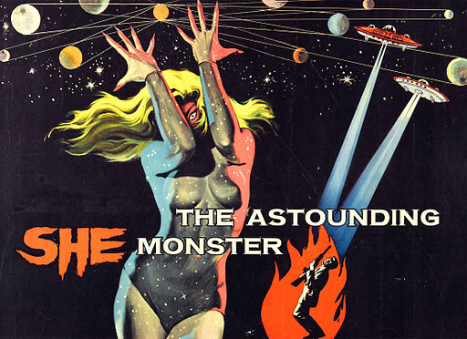 cosmicspacegirl:  The Astounding She-Monster (1957)