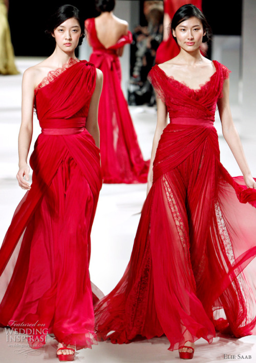 seabride:  Elie Saab. I love red dresses.