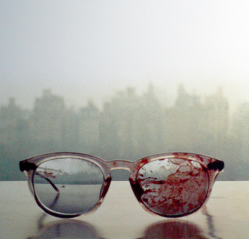 9bmcxesjay:  i-magine-that:  cokofeatneke:  The glasses John Lennon wore when he got shot, 31 years ago. i will always reblog this i dont know there is just something so powerful about this image Wow. This makes me feel so sad. omg Piece of history on my blog.  Yoko took this image on their window sill in the apartment…so sad  ^   2 fingers up for John. ✌