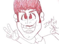 letmalikyou-1direction:  foreveronedirectionn: Zayn's self portrait :)