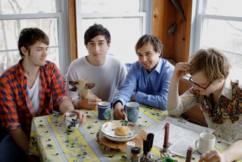 So. Grizzly Bear. Lo-fi, indie, hints of folk influence, some 60s psychedelia. Hipster indie darlings for the past couple of years. Yeah, Grizzly Bear. When their third album, Veckatimest, came out in 2009, they were everywhere. Everywhere. You couldn't go on a music blog without seeing a post on them or a review of the album. They did all the talk shows, toured everywhere, and then by 2010 had dropped off the face of the earth to work on new stuff. Grizzly Bear is a trip. They take a lot of influence from late 60s psychedelic pop and rock like The Mamas and The Papas, The Turtles, The Doors, and Beatles material from that era. There is also a good dose of modern sensibilities as well, especially from groups on the Arts and Crafts label. The vocals are big and chorus laden. The guitars generally have a huge contrast between crisp, clean chords and huge, effects ridden atmospheric parts. There's a lot of synth and key parts, and drums are often fairly minimal. The sound swirls as more of a mood than distinct parts making up a song. If you listen to a lot of newer indie, this is not an unfamiliar sound. Unfortunately, in the sea of mid-late 2000s indie, they kind of meld into a lot of other acts, making them hard to distinguish from other bands. Although, they do appear to have some staying power and a new album in the works as of this past summer. Check 'em out:http://grizzly-bear.net/ www.myspace.com/grizzlybear