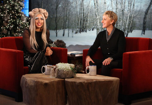 Lady Gaga on The Ellen Degeneres show.