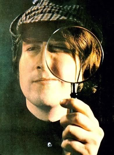 captainhumphrey:  Amie just sent me the link to this picture of John Lennon dressed as Sherlock Holmes. It made me happy so I'm posting it here.