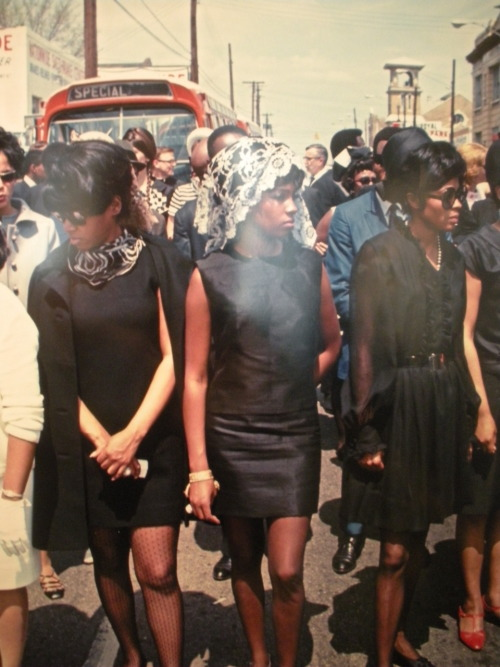 the-warning:  Photo of The Supremes from Dr. Martin Luther King's memorial service, 1968, displayed at the Muhammad Ali Center, Louisville, KY.