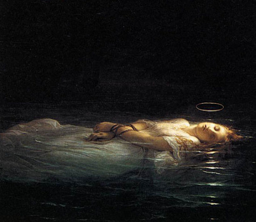 mirroir:  detail of La Jeune Martyre, Paul Delaroche, 1855