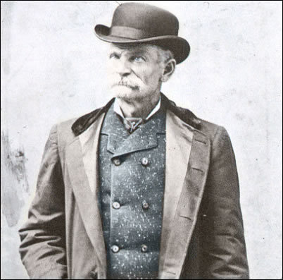 "From 1874 to 1883 Charles Bolten (alias Black Bart) made his living by robbing the stage coaches that traveled the trails of Northern California. He hated horses and would always stop his victims while on foot wearing a long duster and a flour sack over his head. Standing in the middle of the road and aiming his shotgun (usually unloaded) at the driver, he would shout: ""Throw down your box or die!"" He committed 27 hold-ups and became known for the signed poem he always left behind. Honestly, I'm surprised he had so many; he seems completely insane."
