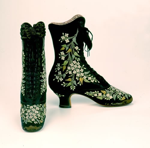 Any objections to a These boots were made for walkin' theme tomorrow? Pinet boots, 1880s