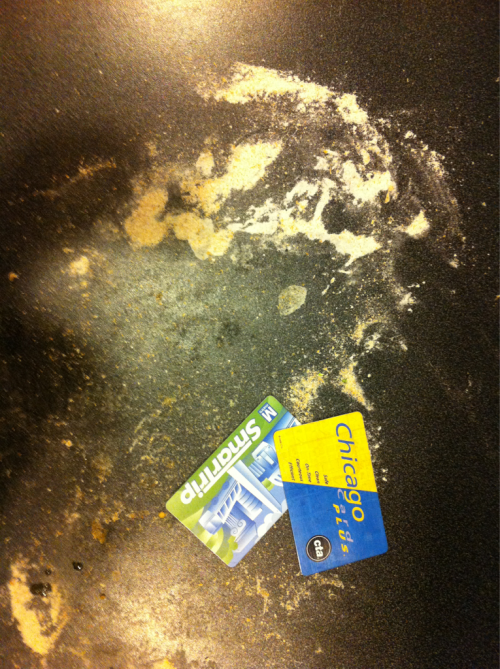 which obsolete transit card will I use to clean up from kneading homemade pizza crust?! #settleangst