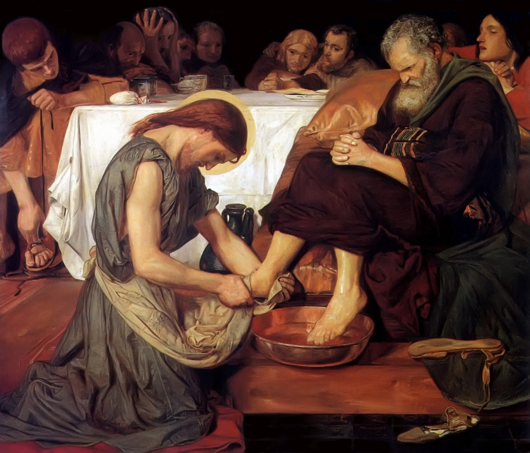 necspenecmetu:  Ford Madox Brown, Jesus Washing Peter's Feet, 1852-6