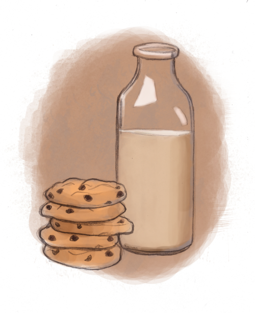 Delicious December continues with some milk and cookies! (I know I'm a half hour late for theme Thursday, but it's still Thursday over on the west coast, right?)