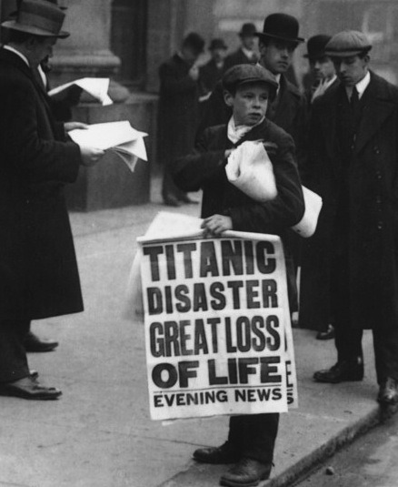 News of the Titanic.