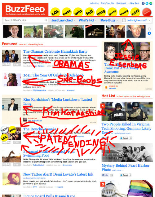 PATENT PENDING IS ON THE COVER OF BUZZFEED.COM!!! Thank you sooo much for helping us get here! Hopefully one day soon pop-punk bands can be big enough to ensure that we don't have to listen to remixes of Chris Brown songs on the radio for the next 2 years! If you have a spare moment and you want to help us out please click on the page and leave a positive comment. Every little bit helps! #secondfamily!